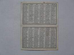 VIEUX PAPIERS - CALENDRIER PETIT MODELE 1958 - Calendriers