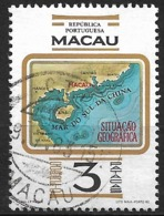 Macau Macao – 1982 Geographic Location 3 Patacas Used Stamp - Macao
