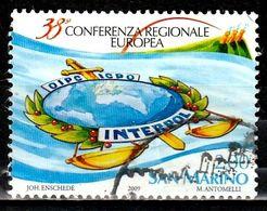 SAINT MARIN 2178° 2€ 38ème Conférence De L'ICPO Interpol (10% De La Cote + 0,25) - Oblitérés