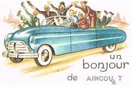 95  UN BONJOUR  DE  AINCOURT   CPM  TBE  72 - France
