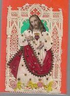 K51//    KANTEN DEVOTIEPRENTJE    S.COEUR     Aangekleed Prentje  !!!!!!!  7/12 Cm - Religion &  Esoterik