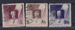 USSR 1934 Michel 480A-482A Stratosphere Balloon Disaster Victims. Perf.11 Used - Used Stamps