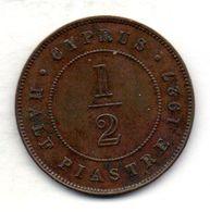 CYPRUS, 1/2 Piastre, Bronze, Year 1927, KM #17 - Chipre