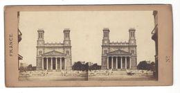 PARIS EGLISE ST VINCENT DE PAUL  PHOTO STEREO CIRCA 1860 /FREE SHIPPING R - Photos Stéréoscopiques