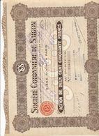 ACTION Société Cotonnière De SAIGON - Asien