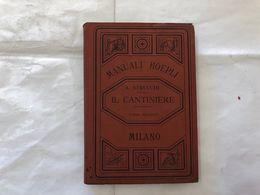 MANUALI HOEPLI A.STRUCCHI IL CANTINIERE TERZA EDIZIONE 1899. - Boeken, Tijdschriften, Stripverhalen