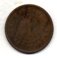 CYPRUS, 1 Piastre, Bronze, Year 1879, KM #3.1 - Chipre