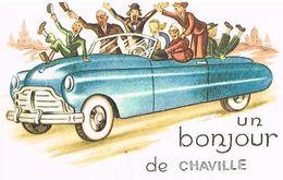 92  UN BONJOUR  DE  CHAVILLE   CPM  TBE  78 - Chaville