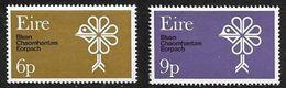 Irlanda 1970 Natural Conservación Año De La Sc# 277-78 MNH - Nuovi