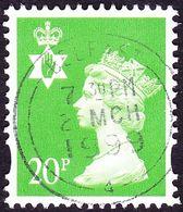 GREAT BRITAIN Northern Ireland 1997 QEII 20p Bright Green Machin SGNI79 FU - Regional Issues