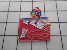 316c Pin's Pins / Beau Et Rare / THEME : JEUX OLYMPIQUES / ALBERTVILLE 1992 HOCKEY SUR GLACE Par FB - Juegos Olímpicos