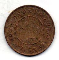 CYPRUS, 1 Piastre, Bronze, Year 1927, KM #18 - Chipre