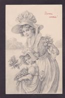 CPA Type VIENNE Viennoise Femme Girl Woman Circulé Voir Scan Du Dos Art Nouveau - Vienne