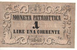 ITALY  Moneta Patriottica   1  Lira   1848 - Altri
