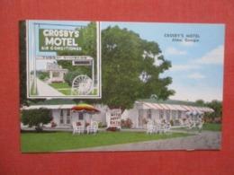 Crosby's Motel  Alma Georgia  >> Ref 4195 - Etats-Unis