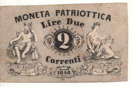ITALY  Moneta Patriottica   2  Lire  1848 - Italië