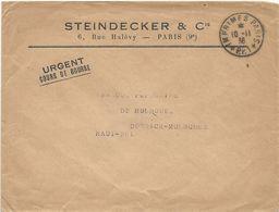 LETTRE 1938 AVEC CACHET IMPRIMES PARIS PP 1 - Marcophilie (Lettres)