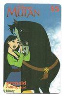 Disney's Mulan $5 LDPC  Prepaid Calling Card, PROBABLY FAKE, # Fd-44 - Disney