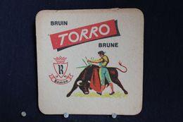 Brasserie / Brouwerij - Bierviltjes / Coasters / 2 Sous Bock: Romy Dort - Bruin Torro - Portavasos