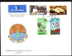 1981 Nigeria, Giornata Mondiale Dell'alimentazione, F.D.C. Non Viaggiata - Nigeria (1961-...)