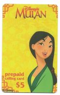 Disney's Mulan $5 LDPC  Prepaid Calling Card, PROBABLY FAKE, # Fd-46 - Disney