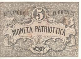 ITALY  Moneta Patriottica   5  Lire  1848 - [ 9] Collezioni