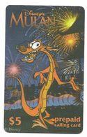 Disney's Mulan $5 LDPC  Prepaid Calling Card, PROBABLY FAKE, # Fd-47 - Disney