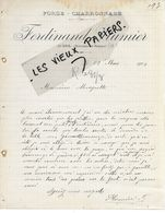 13 - Bouches-du-rhône - AURIOL - Facture PLUMIER - Forge, Charronnage - 1908 - REF 158C - 1900 – 1949