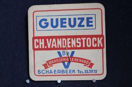 Brasserie / Brouwerij - Bierviltjes / Coasters / 2 Sous Bock: Gueuze  Ch.Vandenstock - Brasserie Le Renard Schaerbeek - Portavasos