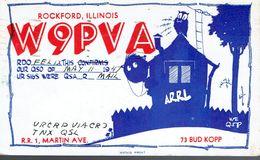 Old QSL From Bud Kopp (W9PVA), Martin Ave., Rockford, Illinois, USA (May 11 1947) - CB