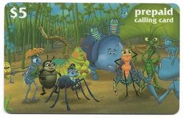 Disney's A Bug's Life, $5 LDPC  Prepaid Calling Card, PROBABLY FAKE, # Fd-48 - Disney
