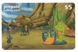 Disney's A Bug's Life, $5 LDPC  Prepaid Calling Card, PROBABLY FAKE, # Fd-49 - Disney