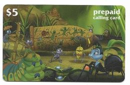 Disney's A Bug's Life, $5 LDPC  Prepaid Calling Card, PROBABLY FAKE, # Fd-50 - Disney