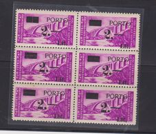 YUGOSLAVIA ISTRA TRIESTE ZONA B Postage Due 2 Lit / 30 , Ovpt Types Bloc Of 6 MNH Some Yellow Spots On Back - 1945-1992 Repubblica Socialista Federale Di Jugoslavia