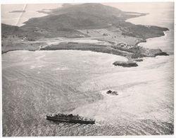 Photo Originale Incendie Paquebot ANTILLES Compagnie Générale Transatlantique Ile Moustique Saint Vincent Grenadines - Bateaux