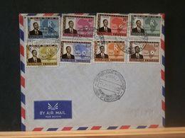 88/791 LETTRE RWANDA OBL. FDC  1962 - Rwanda