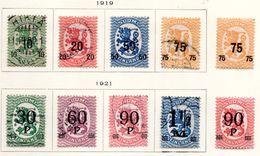 1919/21 - FINLANDIA - Mi. Nr. 103/110 -  LH/USED -  (UP.70.44) - Gebraucht