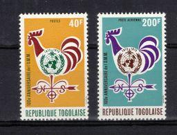 TOGO  Timbres Neufs ** De 1973  ( Ref 1738 ) OMM - Météo - Coq - Togo (1960-...)