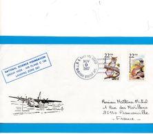 Pli Avec 2 Valeurs USA ( Cachet National Science Foundation  ) - Terres Australes Et Antarctiques Françaises (TAAF)
