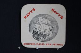 Brasserie / Brouwerij - Bierviltjes / Coasters /  Sous Bock: Brie. La Marine Brussel -  Navy's Scotch - Pale-ale Stout - Portavasos
