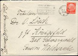 Germany - Maschinenstempel (Mi. 469 EF) 'Benutzt Die Kraftpost, Sicher-Schnell-Bequem'. Darmstadt 28.6.1933 - Königsfeld - Lettres & Documents