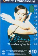 AUSTRALIE  -  Phonecard  -  Telstra  - Céline Dion  - $ 10 - Australie