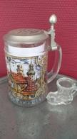 Chope à Bière En Verre. Franc-maçonnerie (voir Clapet). Compagnonage. Franc Maçon. Chope Allemande - Other