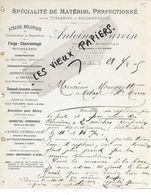 13 - Bouches-du-rhône - ST-HENRY-MARSEILLE - Facture CARVIN - Forge, Charronnage, Tonnellerie, Etc - 1905 - REF 158C - 1900 – 1949