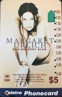 AUSTRALIE  -  Phonecard  -  Telstra  -  Margaret Urlich  -  $ 5 - Australie