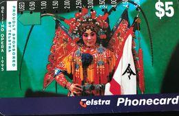 AUSTRALIE  -  Phonecard  -  Telstra  -  Benjing Opera  -  $ 5 - Australie