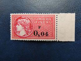 France FISCAL  N° 362 Cote 320 €  Sur Papier Rose Voir Scan  Neufs Sans Charnière MNH - Fiscaux