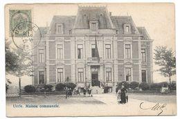 CPA PK  UCCLE  MAISON COMMUNALE  CARTE ANIMEE - België