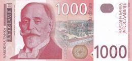 1000 Dinara 2001 !!! UNC Scarce ! Yugoslavia - Yougoslavie