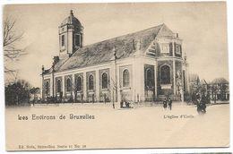 CPA PK  LES ENVIRONS DE BRUXELLES  L'EGLISE D'UCCLE - België